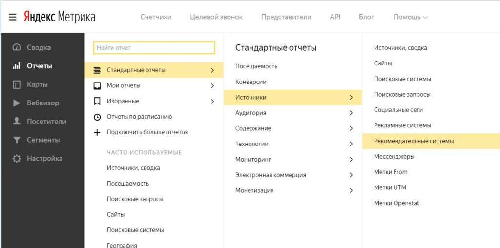 А здесь нужно искать статистику по Дискавер в Яндекс.Метрике