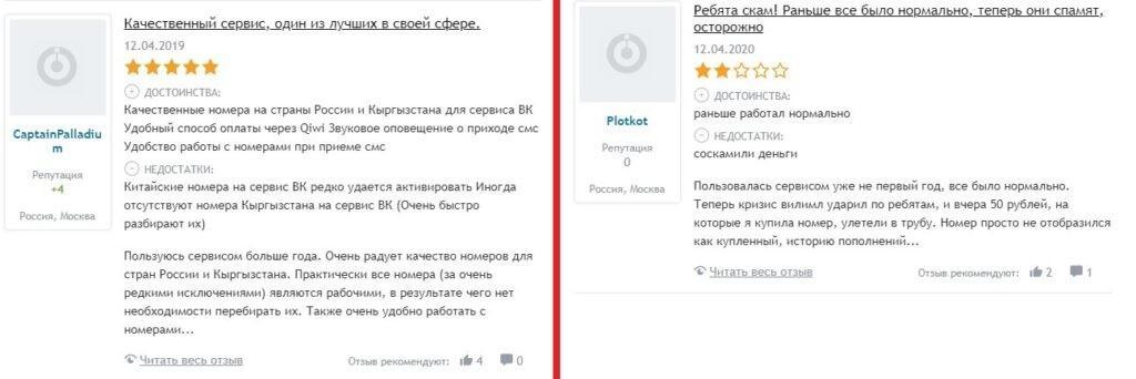 SMS-Activate.ru. Отзывы