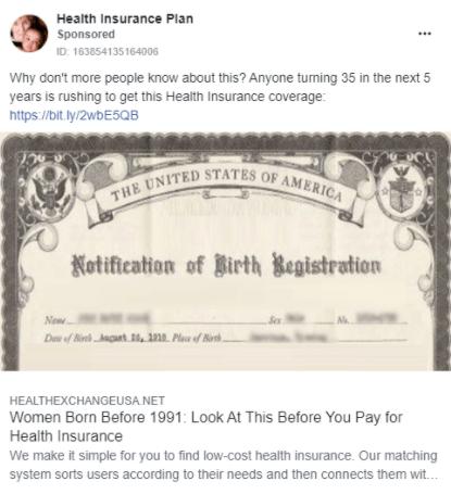 Кейс: как лить на медицинское страхование с Facebook по США