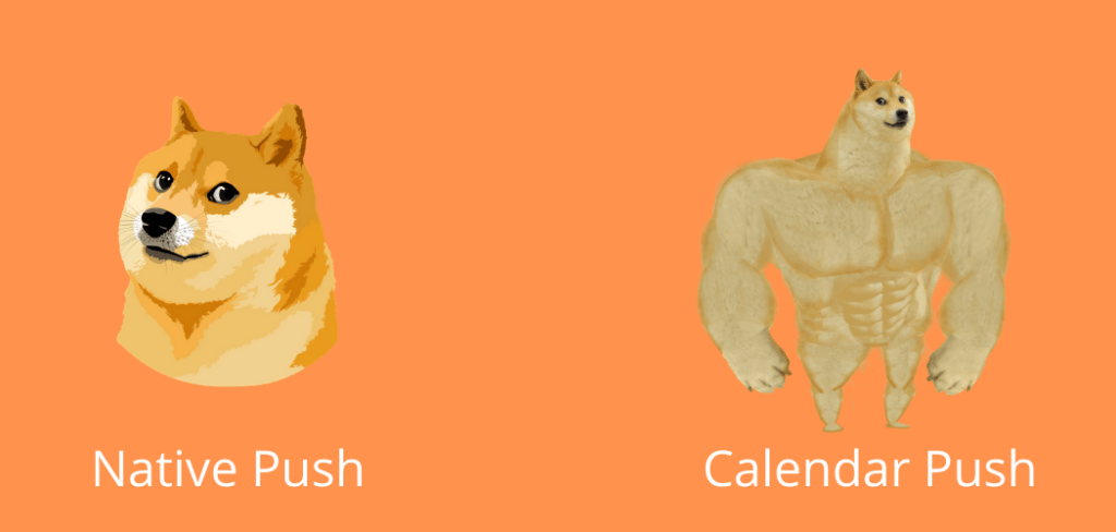 native vs calendar push
