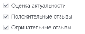 параметры отчета